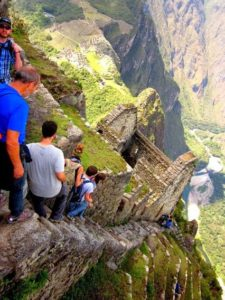 Vertical Stairs at Machu Picchu, Peru