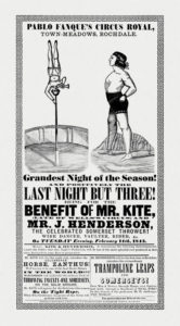 """19th century circus poster which inspired """"Being For The Benefit of Mr Kite!"""" [Public Domain]"""