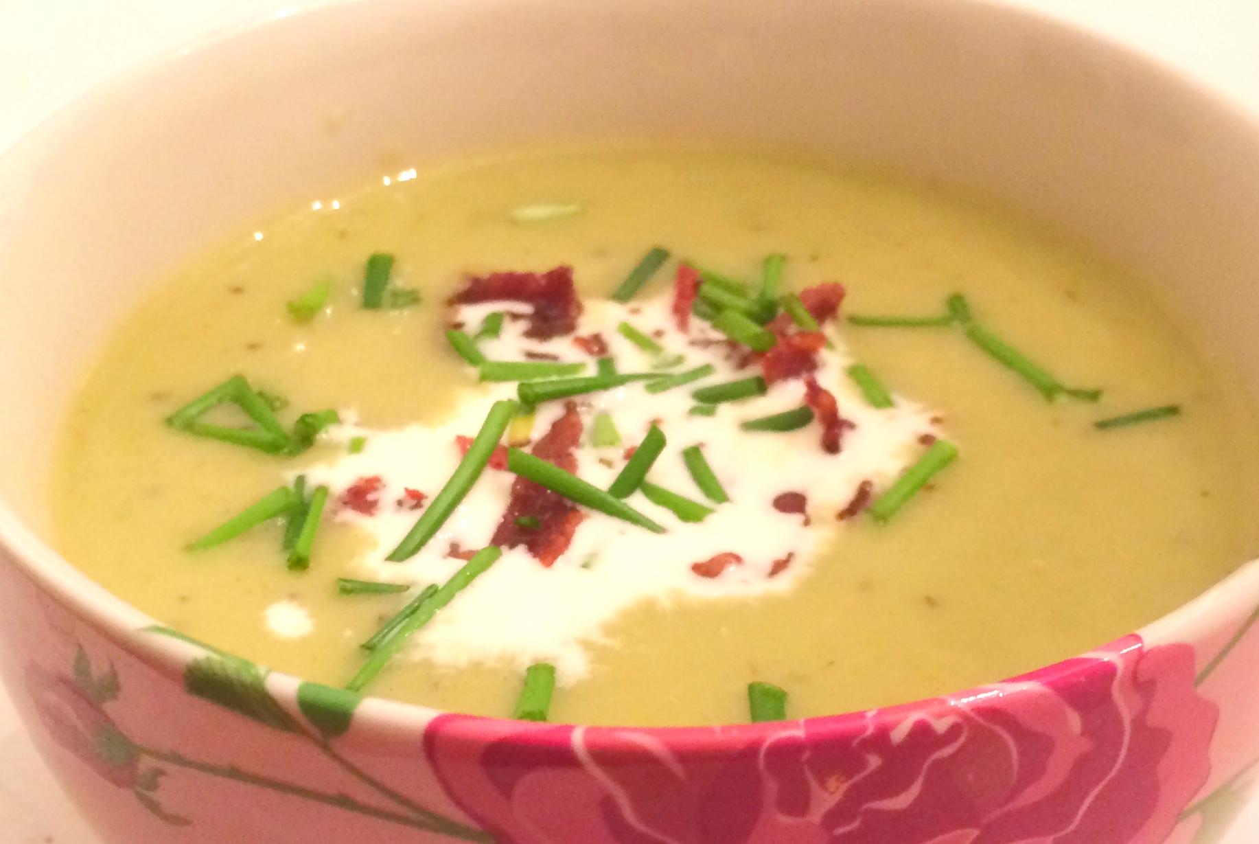 Opskrift: Kartoffel/porre suppe