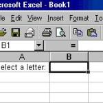 Windows Excel: Creating Drop Down Menus