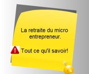 la retraite du micro entrepreneur.