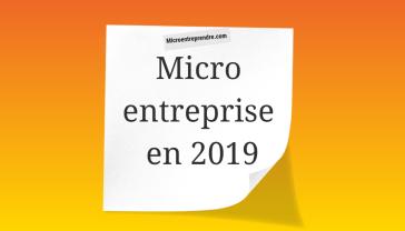 micro entreprise en 2019