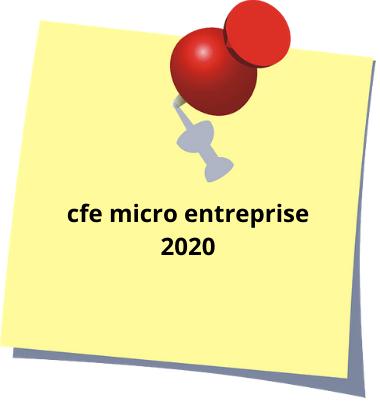 cfe micro entreprise 2020