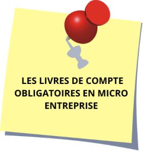 LES LIVRES DE COMPTE POUR MICRO ENTREPRENEURS