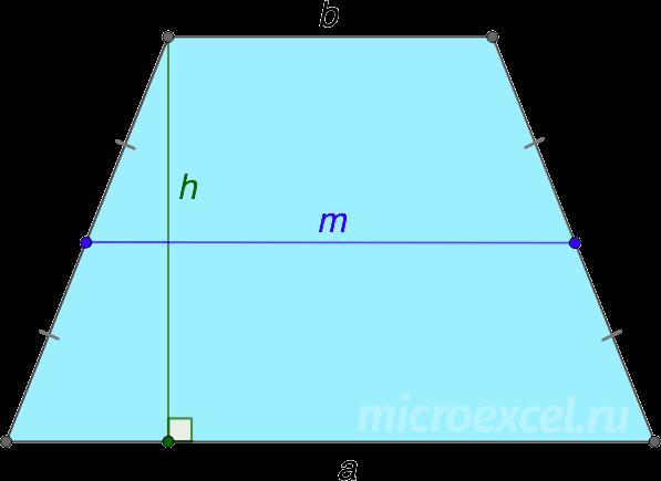 Trapezul egal cu baze A și B