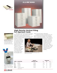 Aperture Card Storage Cabinets | Microfilm Products Company