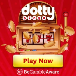 Dotty Bingo Casino 150 free spins & 300% up to £300 welcome bonus