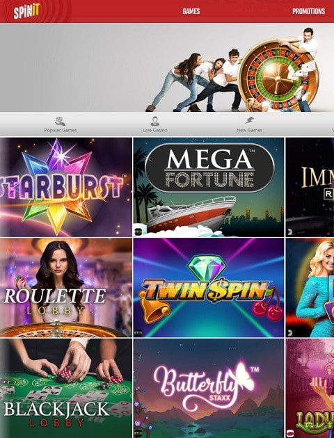 SpinIt Casino gratis spins bonus