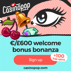CasinoPop | 100 gratis spins & €600 free bonus | online casino games