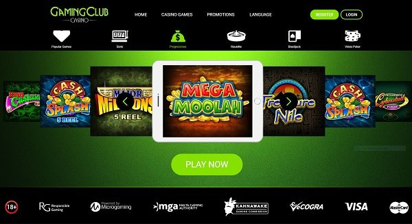 Gaming Club Casino online slots and jackpots!