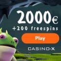 Casino-X $2000 bonus and 200 free spins