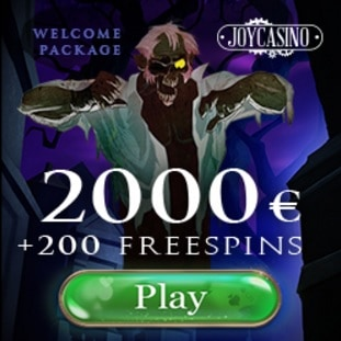 Joy Casino 200 free spins and $2000 free bonus
