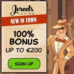 JoReels Casino 50 free spins + 100% bonus + €200 free chips