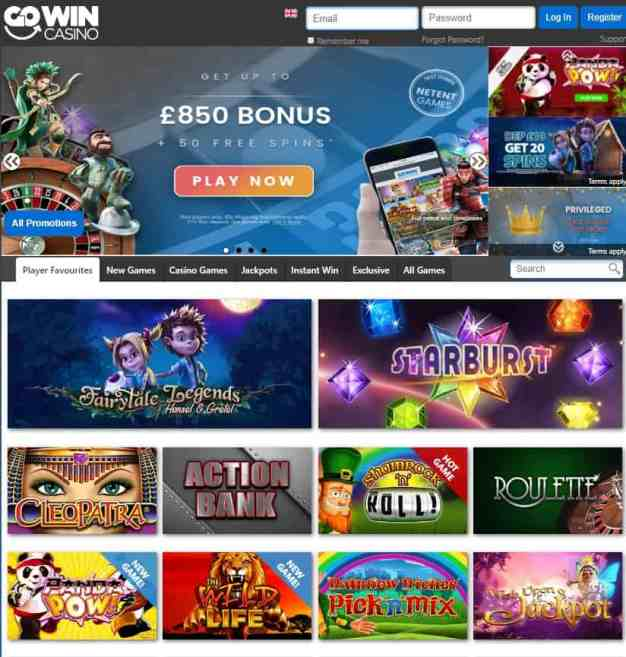 GoWin Casino Free Spins