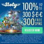 Sloty Casino – play with £1500 and 300 free spins welcome bonus!