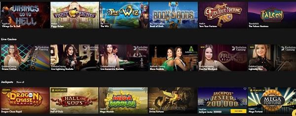 Bethard Casino jackpot games