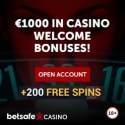 Betsafe Casino 200 free spins and $1000 free bonus