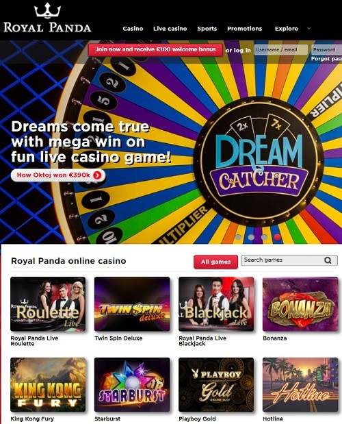Royal Panda Casino Online