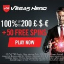 Vegas Hero Casino 50 free spins and $1000 welcome bonus