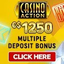 Casino Action $1250 welcome bonus and free spins