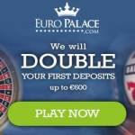 Euro Palace Casino 300% up to €600 bonus + Jackpot Free Spins