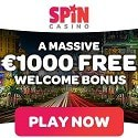 Spin Casino, Spin Sports £/$/€1000 welcome bonus and £/$/€200 free bet and free spins