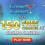 Play 150 free spins on Mega Moolah at Cosmo Casino!