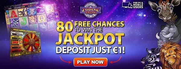 80 free chances on Mega Moolah