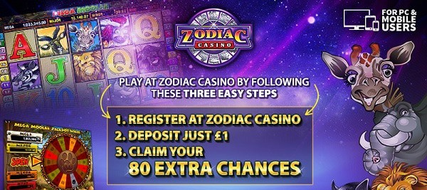 Play at Zodiac Casino Online and Mobile!