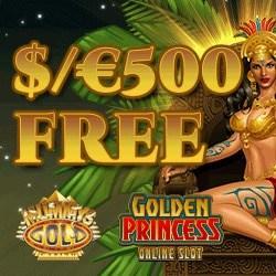 Mummys Gold Casino $500 free spins bonus on first deposit