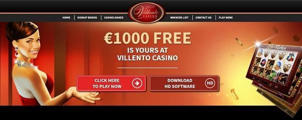 Villento Casino Online Free Spins Bonus