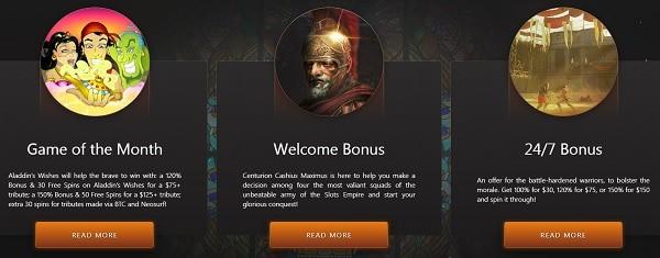 free spins at Slots Empire