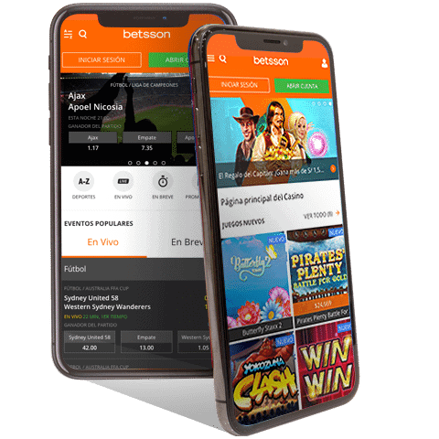Betsson Odds, Mobile Games, Live Dealer