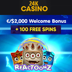 100 free spins on Reactoonz