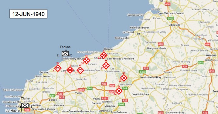 Map Of Germany 1940.51st Highland Division After Dunkirk