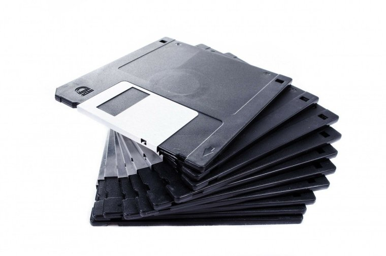 stack of floppy disks