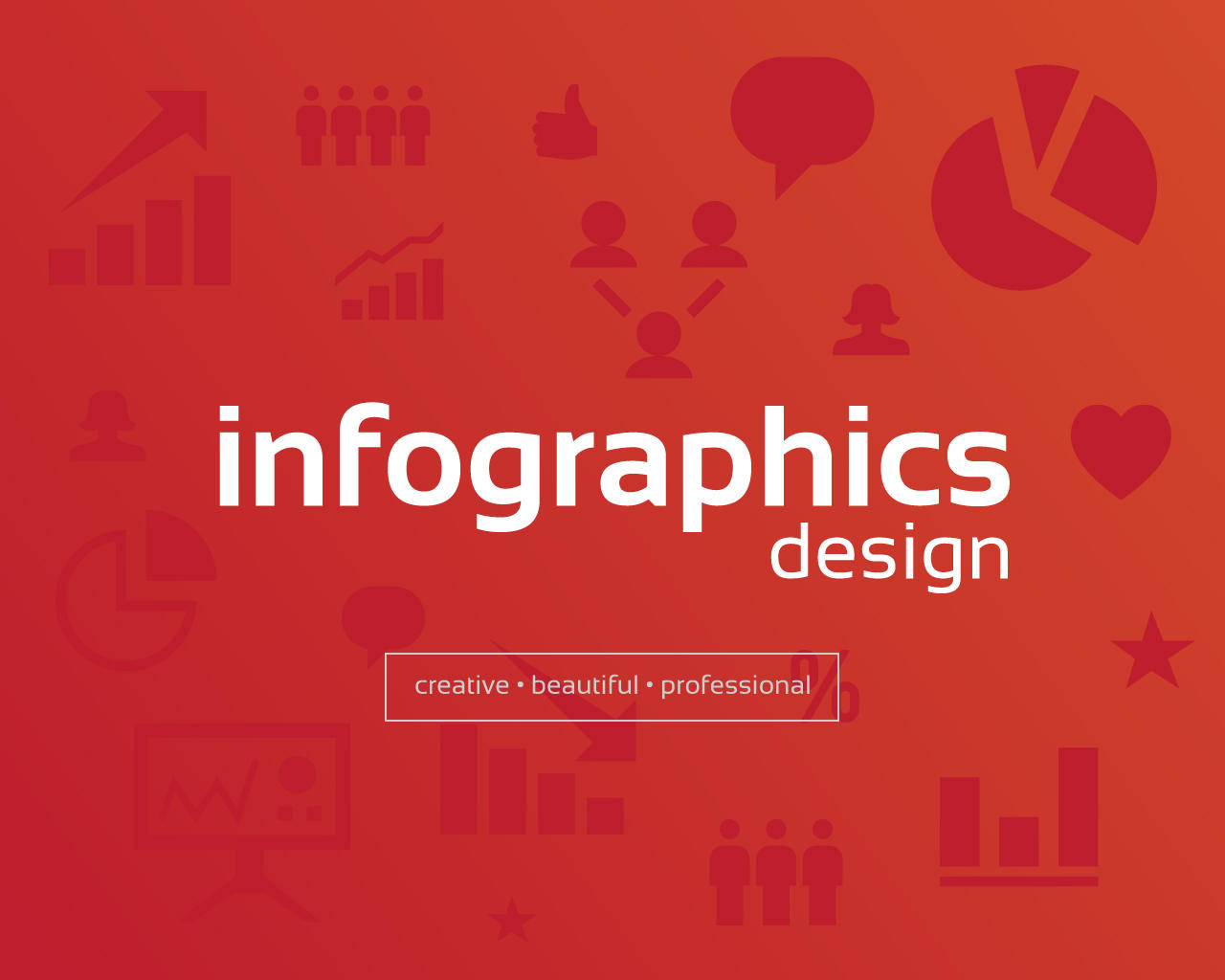 clean creative infographics design