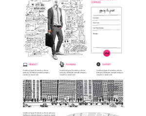 Graphic Design of Home Page/ Landing Page Web Design (psd