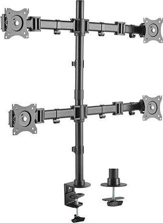 iDesign LDT07-C048 Quad / Four Monitor Desk Stand / Mount