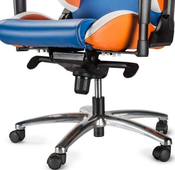 sparco office chair ivory desk gaming codemasters dirt rally edition blue orange white height adjustment