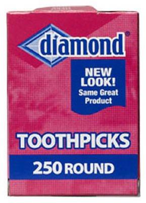 Diamond Round Toothpicks Pack of 250 MicroMally