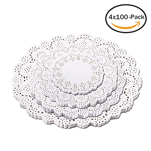 Royal Medallion Lace Round Paper Doilies, 8-Inch, Pack of