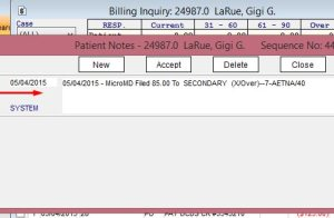 billing inquiry screen 2