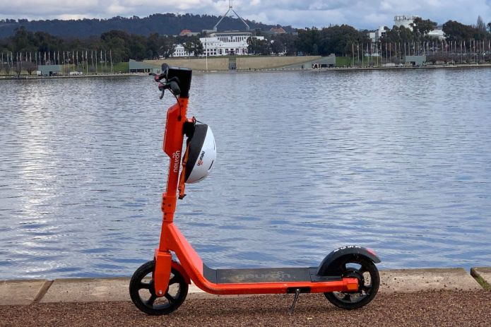 Neuron e-Scooter in front of Parliament House