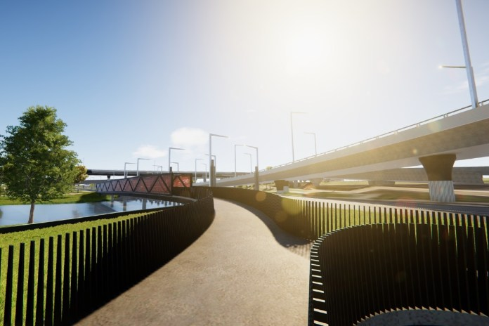 Moonee Ponds Creek bridge part of the West Gate Tunnel Project