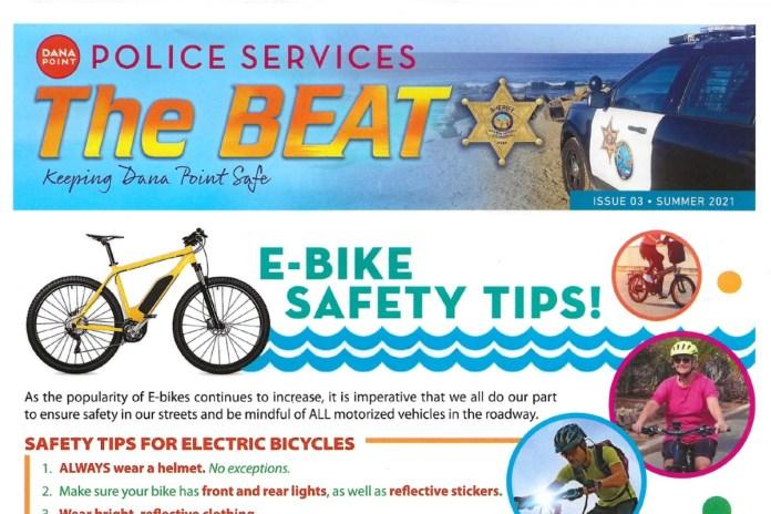 Dana Point Police Ebike Safety Tips Flyer
