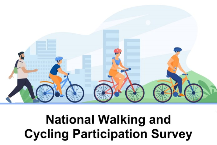 Cycling participation data by state from the National Walking and Cycling Participation Survey 2021.
