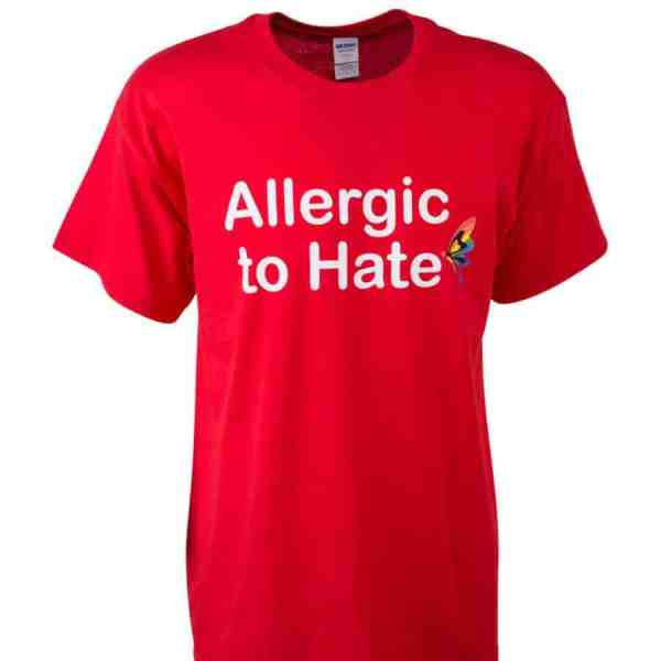 T-Shirt allergic to hate
