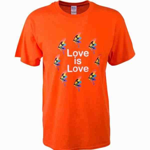 LGBT orange t-shirt