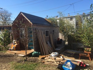 One of the tiny house community houses 2 years and 5 months after construction began